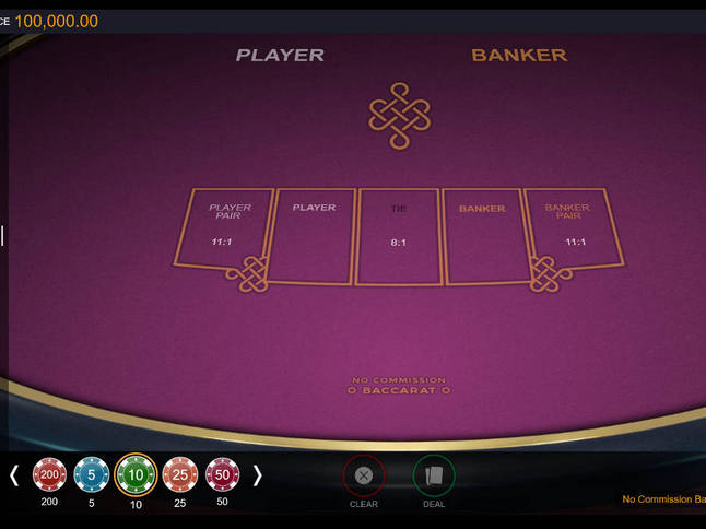 Play 'Switch No Commission Baccarat' for Free and Practice Your Skills!